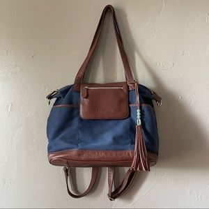 Lily Jade | canvas + leather convertible backpack